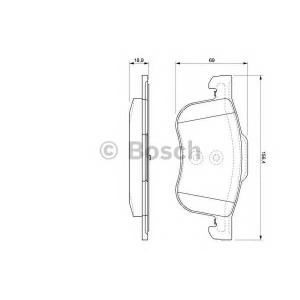 Комплект тормозных колодок, дисковый тормоз 0986424540 bosch - VOLVO S80 (TS, XY) седан 2.0 T