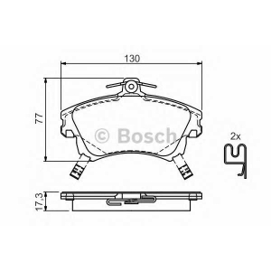 BOSCH 0 986 424 541 Торм колодки дисковые (пр-во Bosch)