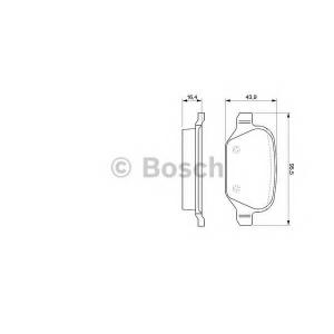 Комплект тормозных колодок, дисковый тормоз 0986424553 bosch - LANCIA LYBRA (839AX) седан 1.6 16V (839AXA1A)