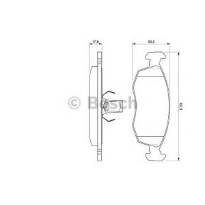 BOSCH 0 986 424 554 Комплект тормозных колодок, дисковый тормоз Фиат Албеа