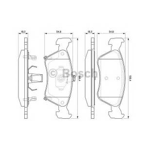 Комплект тормозных колодок, дисковый тормоз 0986424560 bosch - TOYOTA AVENSIS Liftback (_T22_) Наклонная задняя часть 1.8 VVT-i