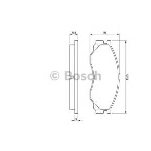 Комплект тормозных колодок, дисковый тормоз 0986424572 bosch - MITSUBISHI SPACE GEAR (PD_W, PC_W, PB_V, PA_W, PA_V) вэн 2.5 TD (PA5V/W, PB5V)