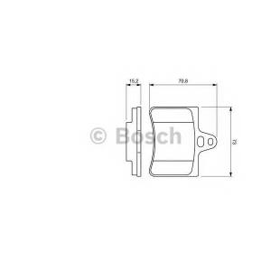 Комплект тормозных колодок, дисковый тормоз 0986424580 bosch - CITRO?N C5 (DC_) Наклонная задняя часть 1.8 16V (DC6FZB, DC6FZE)