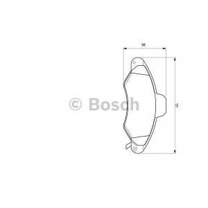 BOSCH 0 986 424 644 Торм колодки дисковые (пр-во Bosch)