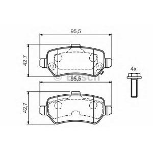 Комплект тормозных колодок, дисковый тормоз 0986424646 bosch - OPEL ZAFIRA B (A05) вэн 1.6 CNG