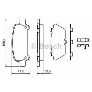 Комплект тормозных колодок, дисковый тормоз 0986424650 bosch - SUBARU FORESTER (SF) вездеход закрытый 2.0 S Turbo