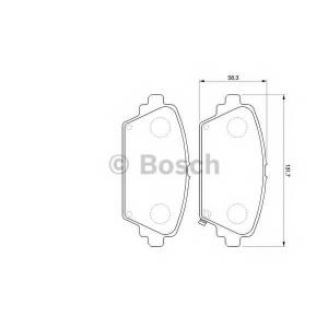 Комплект тормозных колодок, дисковый тормоз 0986424663 bosch - HONDA ACCORD VII (CG, CK) седан 1.8 i