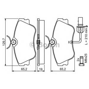 Комплект тормозных колодок, дисковый тормоз 0986424672 bosch - VW TRANSPORTER IV автобус (70XB, 70XC, 7DB, 7DW) автобус 2.4 D Syncro