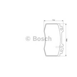 Комплект тормозных колодок, дисковый тормоз 0986424705 bosch - MERCEDES-BENZ C-CLASS (W203) седан C 32 AMG Kompressor (203.065)