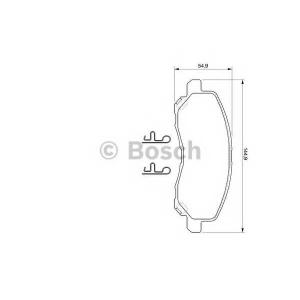 Комплект тормозных колодок, дисковый тормоз 0986424716 bosch - MITSUBISHI GALANT VI (EA_) седан 2.0 (EA2A)