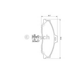 BOSCH 0 986 424 720 Комплект тормозных колодок, дисковый тормоз Форд Ренджер