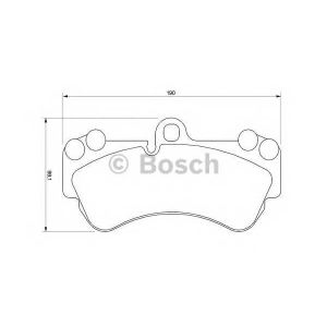 BOSCH 0 986 424 740 Торм колодки дисковые (пр-во Bosch)