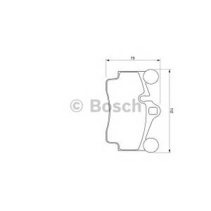 Комплект тормозных колодок, дисковый тормоз 0986424741 bosch - AUDI Q7 (4L) вездеход закрытый 3.0 TDI
