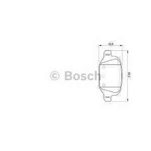 0986424756 bosch Комплект тормозных колодок, дисковый тормоз LANCIA MUSA (350) вэн 1.6 D Multijet
