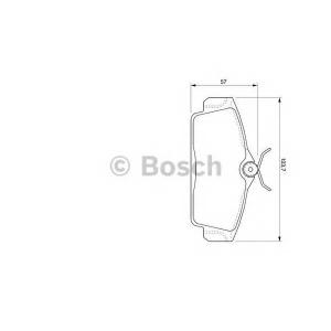Комплект тормозных колодок, дисковый тормоз 0986424781 bosch - NISSAN PRIMERA (P11) седан 1.8 16V