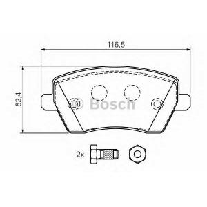 BOSCH 0 986 424 795 Комплект тормозных колодок, дисковый тормоз Рено Модус