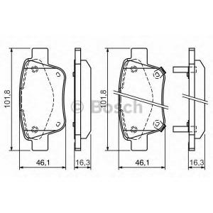 Комплект тормозных колодок, дисковый тормоз 0986424798 bosch - TOYOTA AVENSIS универсал (T25) универсал 2.0 VVTi