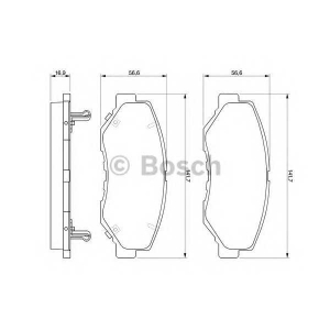 0986424809 bosch Комплект тормозных колодок, дисковый тормоз HONDA CR-V вездеход закрытый 2.2 CTDi