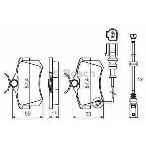 Комплект тормозных колодок, дисковый тормоз 0986424813 bosch - CITRO?N BERLINGO вэн 1.4