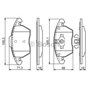 Комплект тормозных колодок, дисковый тормоз 0986424825 bosch - CITRO?N C4 Picasso (UD_) вэн 2.0 i 16V