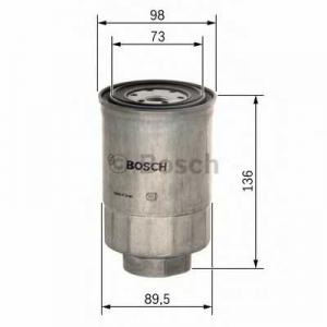 0986450508 bosch Топливный фильтр MITSUBISHI PAJERO вездеход закрытый 2.8 D