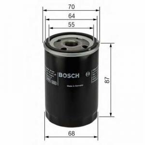 BOSCH 0986452041 Масляний фільтр 2041 OPEL/HONDA Astra,Corsa,Combo,Vectra,Accord,Civic -06