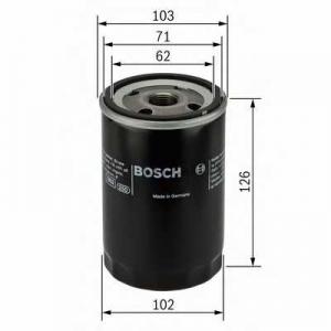 Масляный фильтр 0986452042 bosch - MITSUBISHI COLT II (C1_A) Наклонная задняя часть 1.8 GL Diesel (C14A)