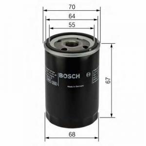 BOSCH 0986452058 Масляний фільтр 2058 CHEVROLET/DAEWOO/OPEL Aveo,Matiz,Aglia 98-