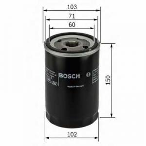 BOSCH 0986452063 Фильтр масляный MITSUBISHI (пр-во Bosch)