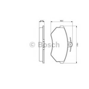 BOSCH 0986460943 Гальмівні колодки дискові AUDI Cabriolet/SEAT Toledo/Ibiza/Cordoba/VW Golf III -99