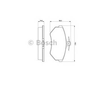 BOSCH 0 986 460 944 Колодка торм. AUDI 80, VW CADDY, GOLF, PASSAT передн. (пр-во Bosch)