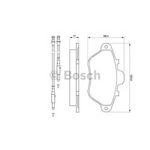 BOSCH 0 986 460 950 Комплект тормозных колодок, дисковый тормоз
