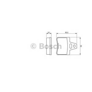 BOSCH 0986460958 Комплект тормозных колодок, дисковый тормоз