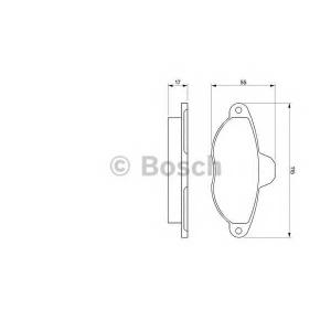 BOSCH 0 986 460 968 Комплект тормозных колодок, дисковый тормоз Фиат