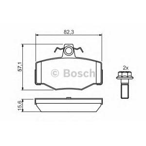 Комплект тормозных колодок, дисковый тормоз 0986460993 bosch - NISSAN ALMERA TINO (V10) вэн 1.8