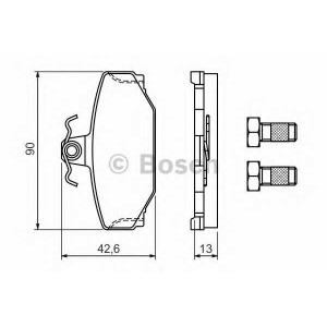 0986460995 bosch Комплект тормозных колодок, дисковый тормоз VOLVO 960 седан 2.9
