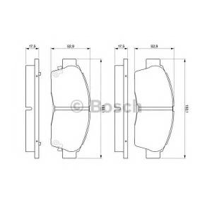 Комплект тормозных колодок, дисковый тормоз 0986461123 bosch - TOYOTA CARINA E седан (_T19_) седан 1.6 (AT190)