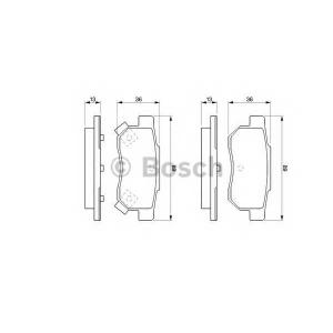 0986461131 bosch Комплект тормозных колодок, дисковый тормоз HONDA ACCORD универсал 2.0 EX