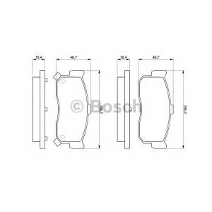 Комплект тормозных колодок, дисковый тормоз 0986461144 bosch - NISSAN MAXIMA QX II (A33) седан 2.0 V6 24V