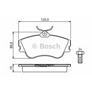 Комплект тормозных колодок, дисковый тормоз 0986461753 bosch - VW TRANSPORTER IV автобус (70XB, 70XC, 7DB, 7DW) автобус 1.8