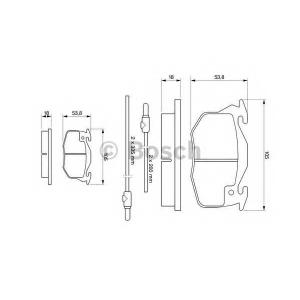 Комплект тормозных колодок, дисковый тормоз 0986461763 bosch - PEUGEOT 106 Van (1_) фургон Electric