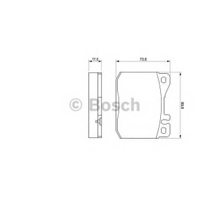 BOSCH 0986463412 Гальмівні колодки дискові MB Coupe| Kombi| S-Class |SL -91