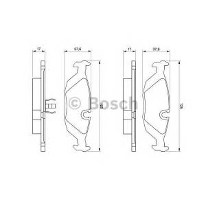 BOSCH 0986466751 Гальмівні колодки дискові BMW 3(E30)|5(E28)|6(E24)|7(E23) -94