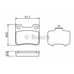 Комплект тормозных колодок, дисковый тормоз 0986466874 bosch - MERCEDES-BENZ 190 (W201) седан 2.3 E