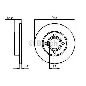 Тормозной диск 0986478016 bosch - AUDI 80 (89, 89Q, 8A, B3) седан 1.6