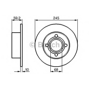 BOSCH 0 986 478 019 Диск тормозной AUDI 100 задн. (пр-во Bosch)