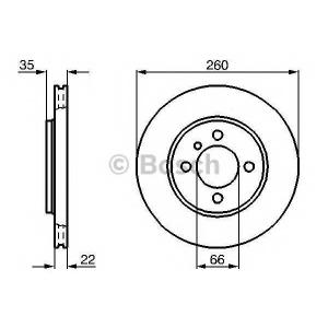 BOSCH 0 986 478 036 Тормозной диск Бмв 3
