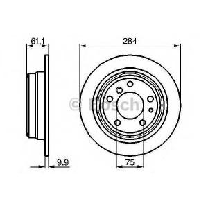 BOSCH 0 986 478 044 Тормозной диск Бмв 5