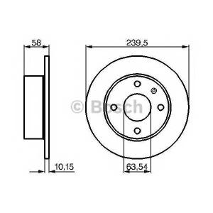 Тормозной диск 0986478072 bosch - FORD ESCORT III (GAA) Наклонная задняя часть 1.1