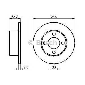 BOSCH 0 986 478 073 Тормозной диск Ауди 100